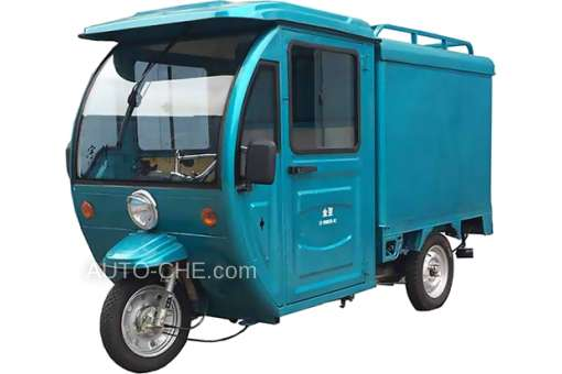 Electric Cargo Trike with cab